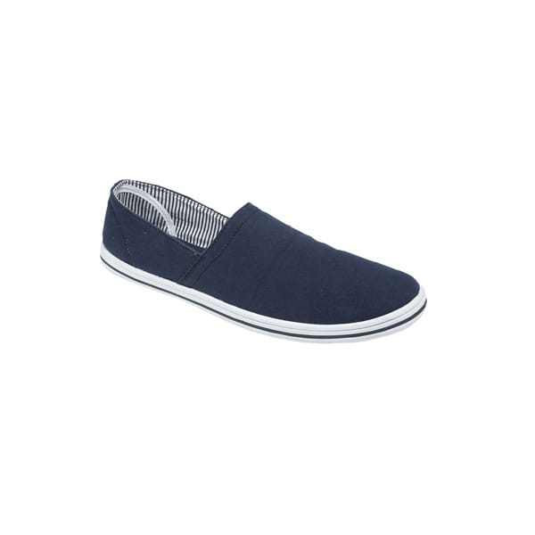 mens womens canvas denim soft casual slip on