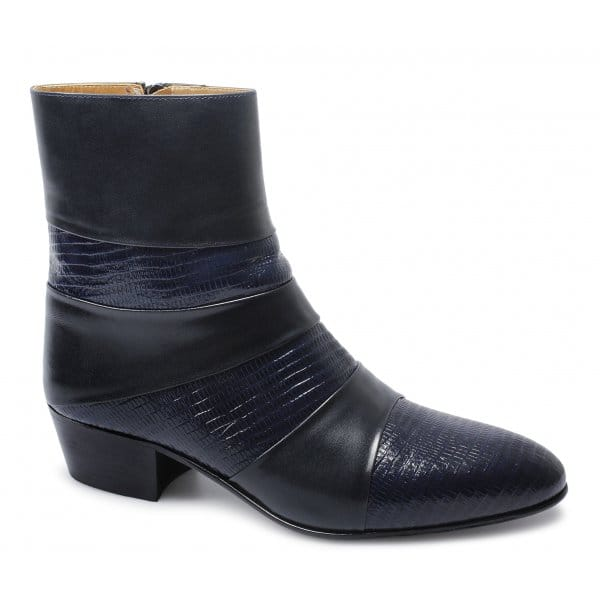 shuperb mens cuban heel made soft reptile