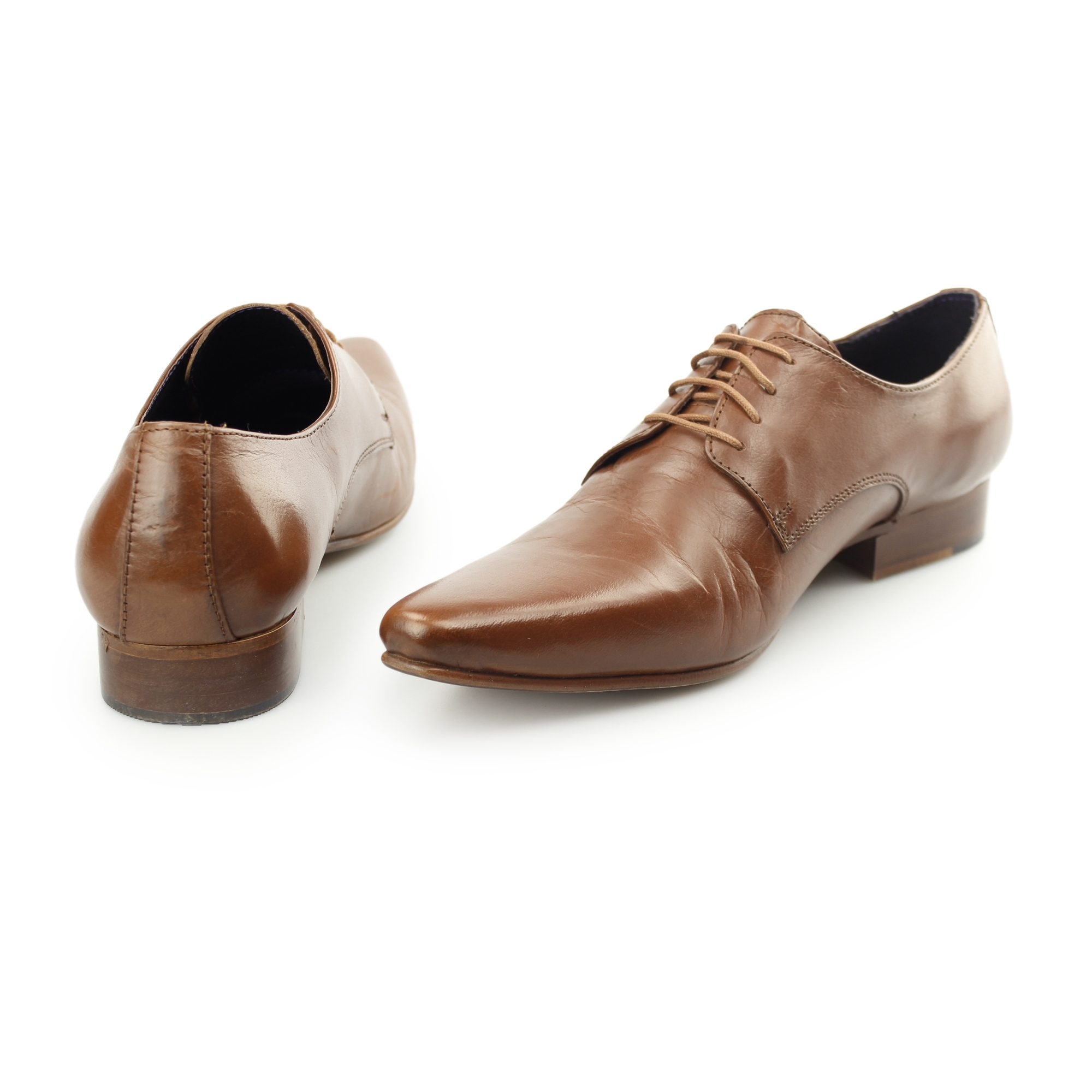 gucinari mens leather lace up pointed toe office wedding