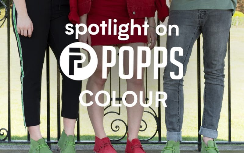 Spotlight on Popps Colour Desert Boots