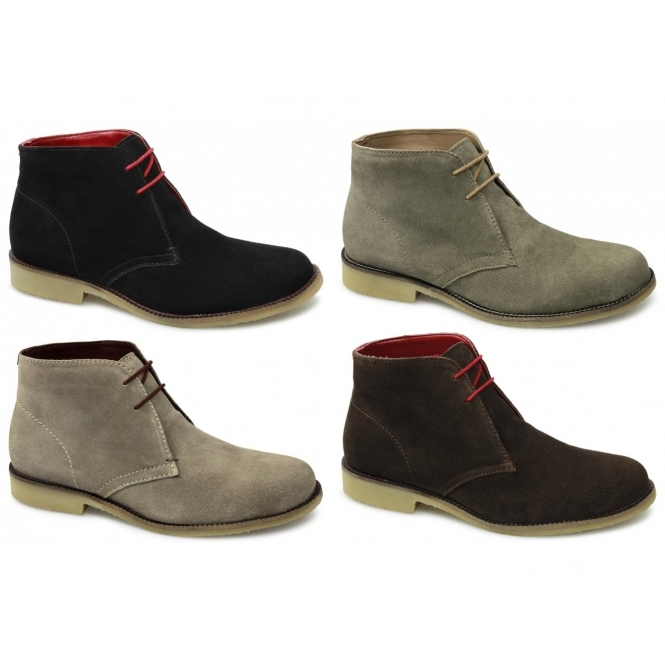Mens Suede Leather Lace-Up Crepe Desert