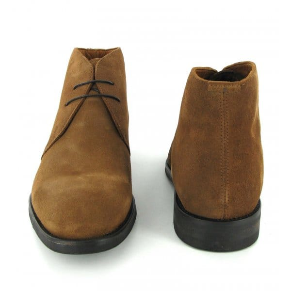 John White WESTBURY Mens Suede Chukka Boots Cognac | DesertBoots.com