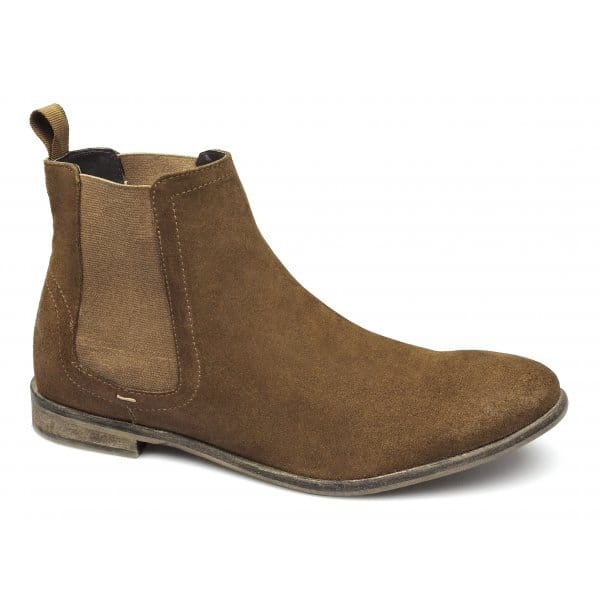 London Brogues Mens Suede Leather Chelsea Boots Tan  43b9f606ec13
