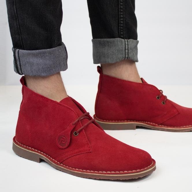 f99adf6ede56 Popps™ ORIGINAL Unisex Suede Leather Desert Boots Red