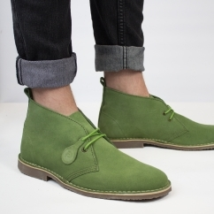 COLOUR Unisex Suede Desert Boots Forest Green