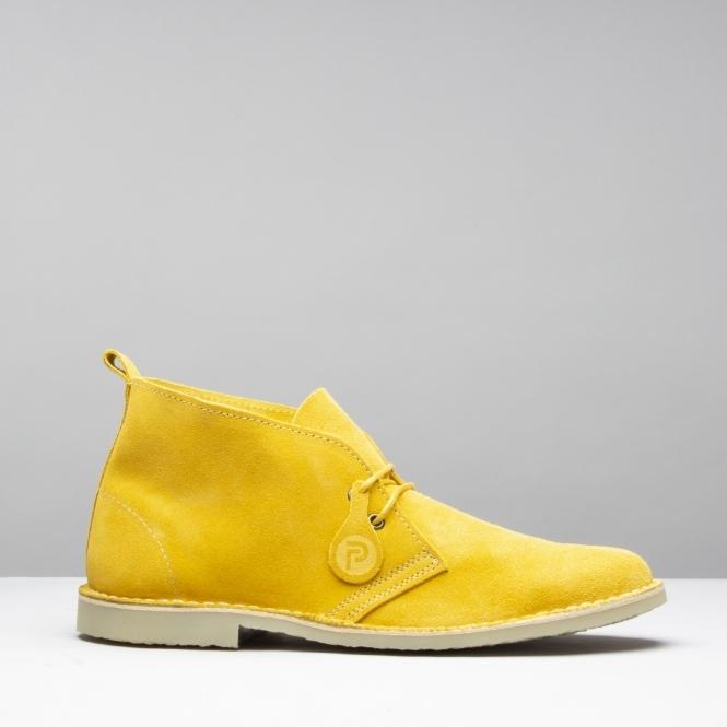 11801a4d3ede Popps™ ORIGINAL Unisex Mens Womens Suede Desert Boots Yellow ...