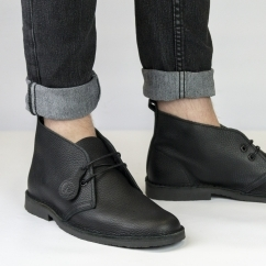 ORIGINAL Unisex Leather Desert Boots Black