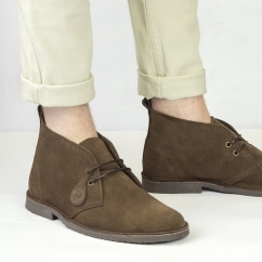 ORIGINAL Unisex Suede Desert Boots Chocolate Brown