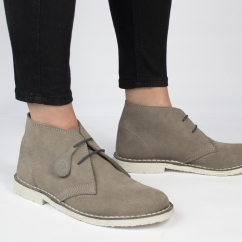 PASTEL Ladies Suede Casual Desert Boots Grey