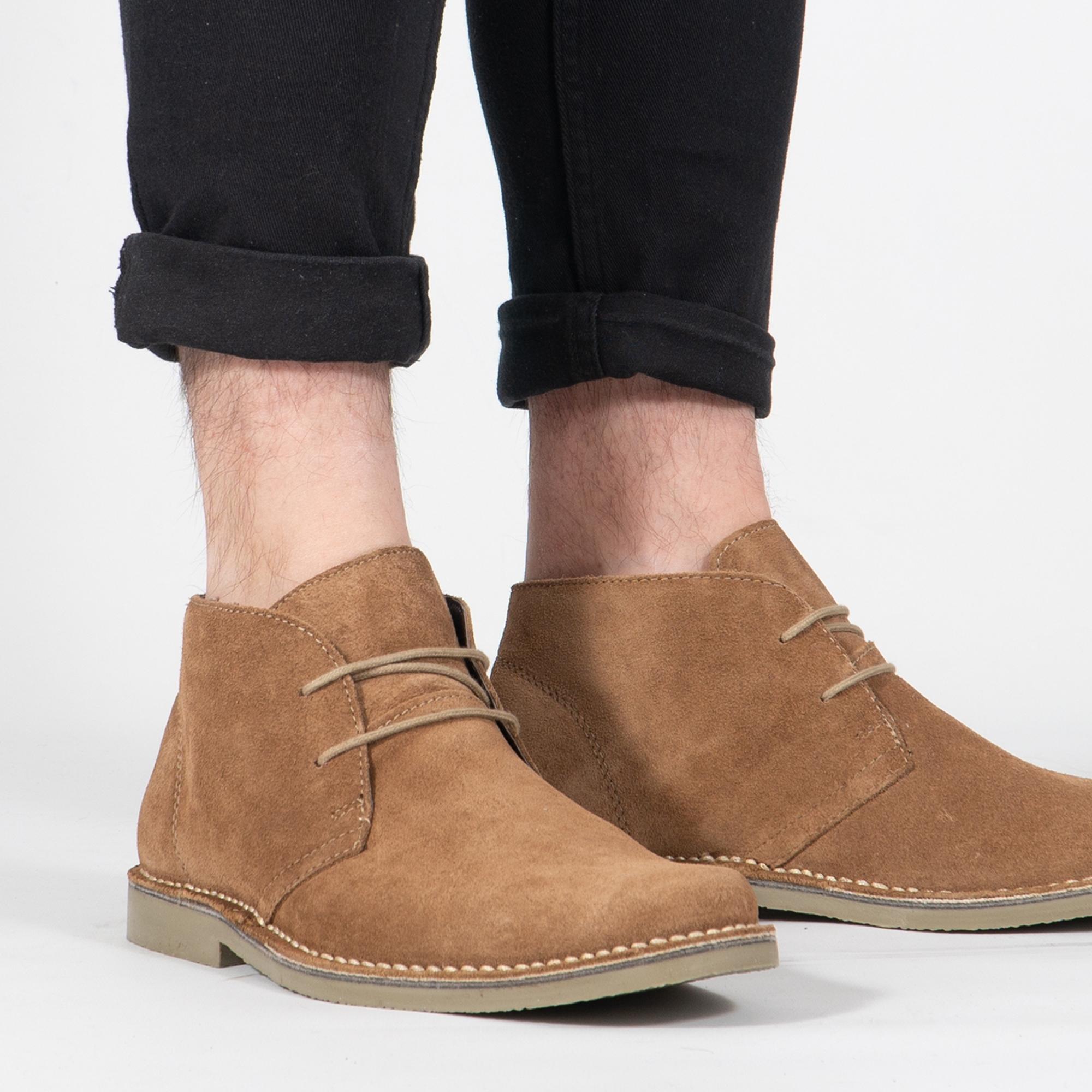 Roamers JIM Mens Sand Desert Boots