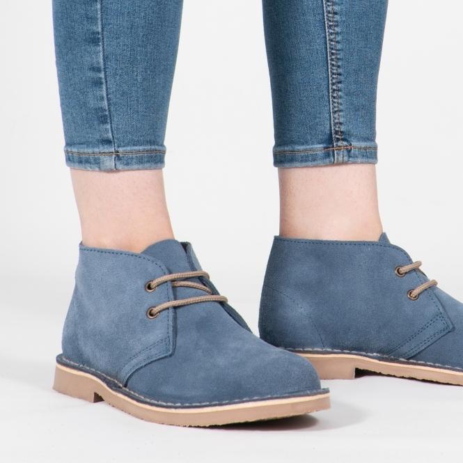 Suede Desert Boots Blue
