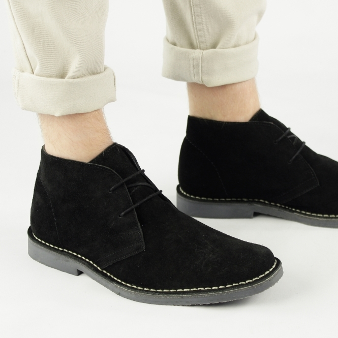 Roamers JIM Mens Black Desert Boots