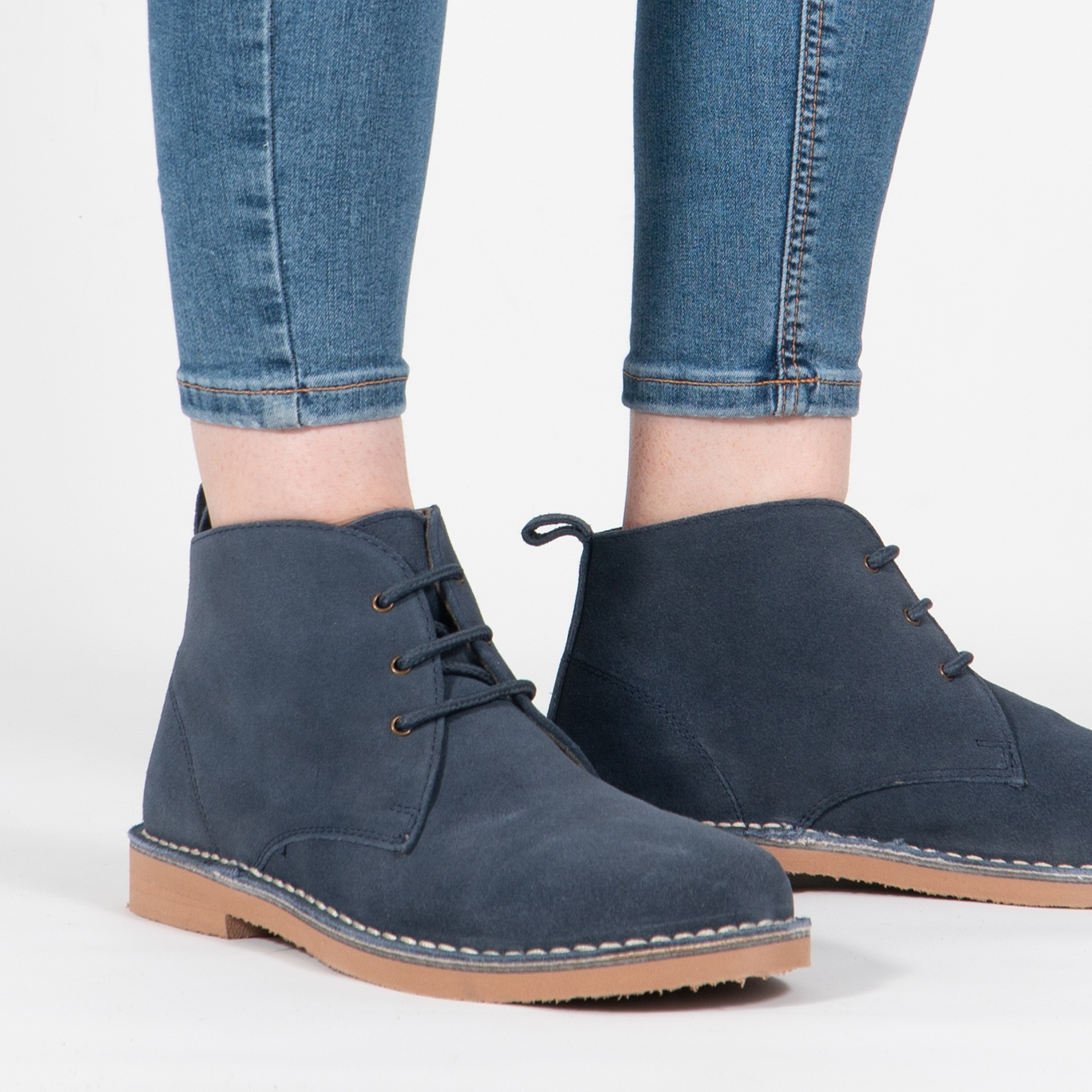Roamers TRACY Ladies Blue Desert Boots