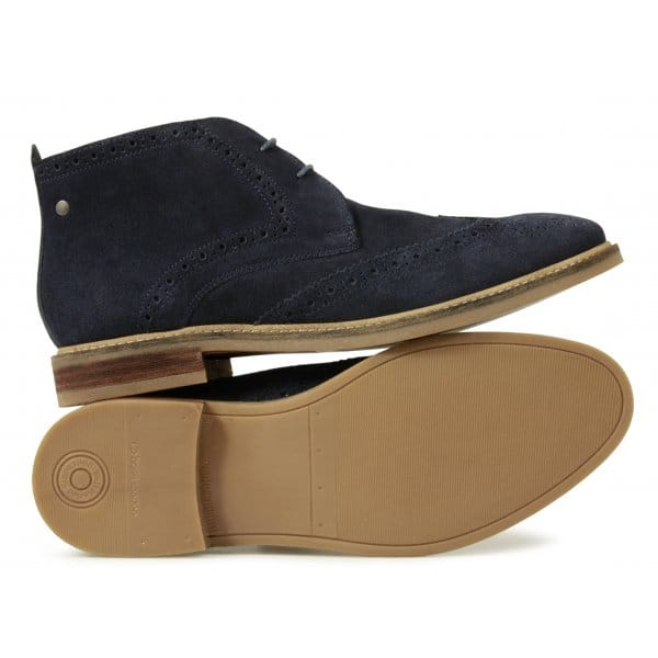 Base London SEVILLE Mens Brogue Chukka Navy | Buy At Desert Boots.com