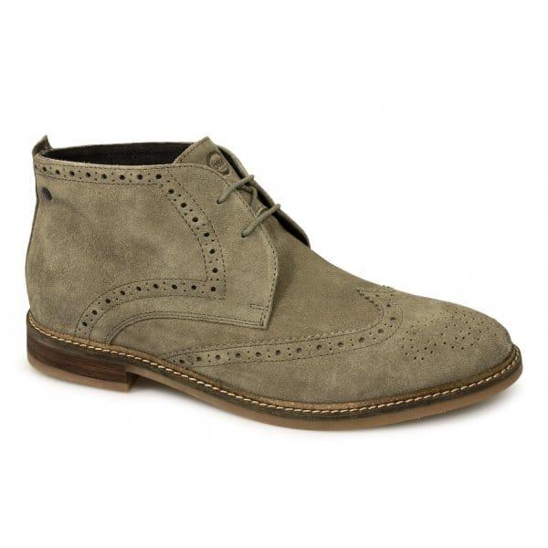 Base London SEVILLE Mens Brogue Chukka Taupe | Buy At Desert Boots.com